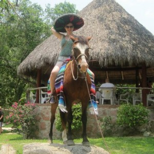 Me on the back of a donkey I spontaneously decided to ride with on vacation in Mexico a few years ago.