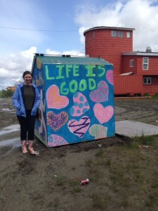 Me in front of one of the many painter dumpsters in Bethel