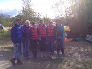 Kayaking group