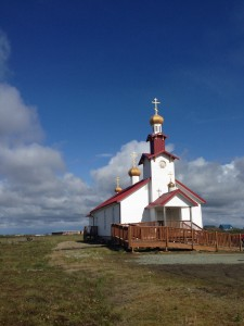 The Russian Orthodox Church that sits at the edge of the tundra