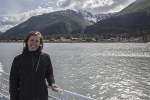 Seward, (AK) in the background.