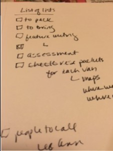 a lhandwritten list of things to do