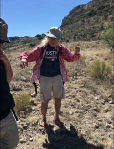 Lil' John. Our tour guide for the desert walk.
