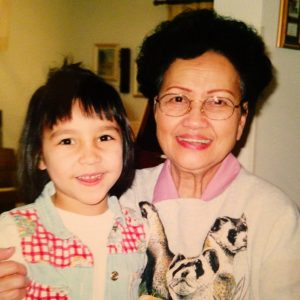 My grandmother Lola and I back in the good ole days.
